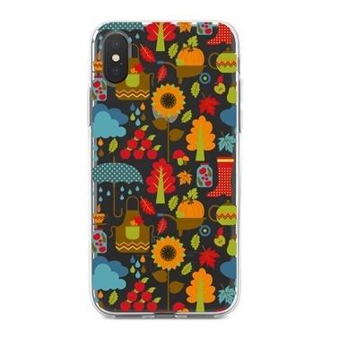 Lopard iPhone Xs Max Kılıf Silikon Arka Koruma Kapak Sonbahar Aşkına Desenli Renkli